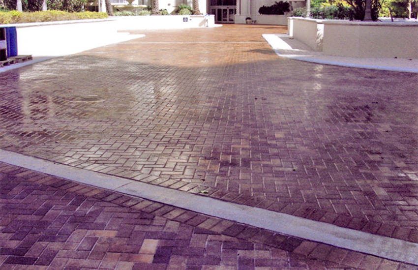 Paver hi-gloss sealer.